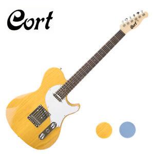 Cort-M-Classic-TC-Telecaster-Tele-Manson-Ash-Yellow-Blue-Blonde-Electric-Guitar