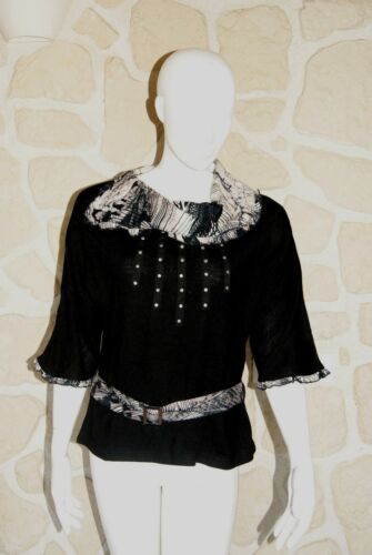 Black € Free New etichetta ng Brand 90 99 Size Figura Top con 48 OdXOP