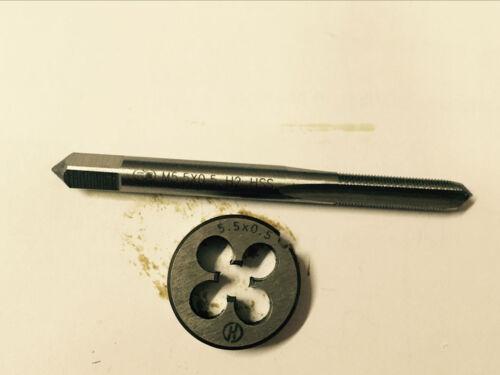 1pc HSS Machine M5.5 X 0.5mm Plug Tap and 1pc M5.5 X 0.5mm Die Threading Tool