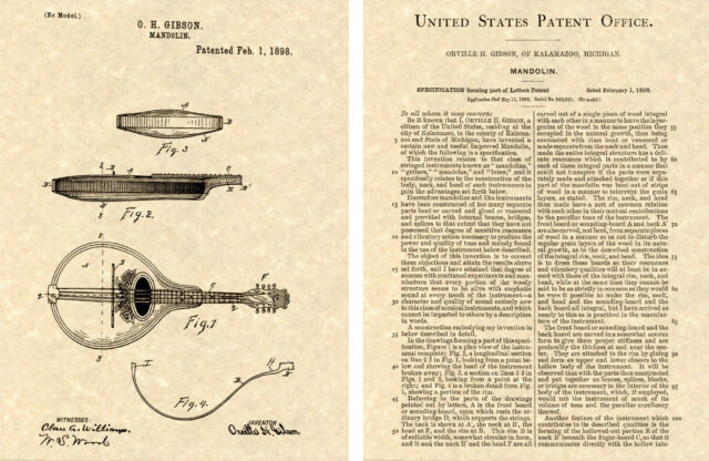 Lover PAF HUMBUCKER PICKUP Gibson Guitar PATENT Art Print READY TO FRAME!!!!