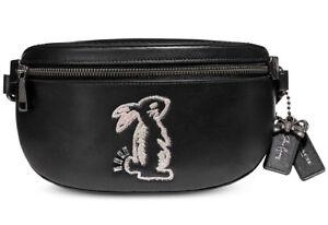 129e132f1213 COACH Selena Gomez Rabbit Bunny Leather Belt Bag Fanny Pack ~NWT ...