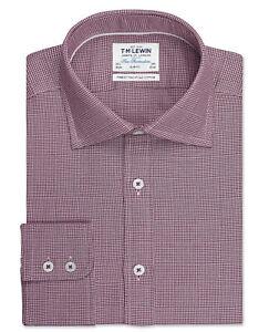 T-M-Lewin-para-hombre-optico-cheque-SLIM-FIT-camisa-puno-Unica-Borgona