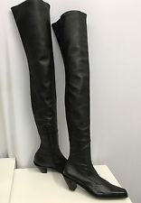 ANN DEMEULEMEESTER LEATHER BOOTS NEW BLACK THIGH HIGH FABULOUS & SEXY SIZE 38 8