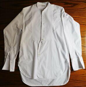 """Vintage Marcella Tunique Chemisier Taille 13.5"""" Ernest Clough Huddersfield 1950 S Hommes Garçon-afficher Le Titre D'origine"""