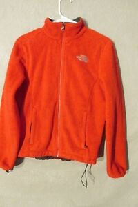 75a8ae2ee Details about V7225 The North Face Red Fleece Zip Up Jacket Women's S