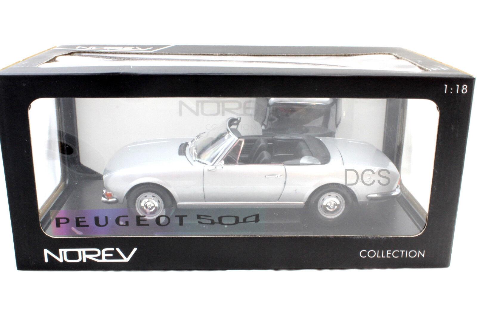 Norev 1971 Peugeot 504 Cabriolet 1 18 Voiture Miniature