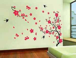 Large-Plum-Blossom-Flower-Tree-and-Swallow-Birds-Wall-Stickers