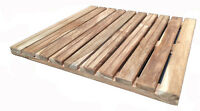 Solid Premium African Teak Wood Mat Unfinished Of 16 X 16