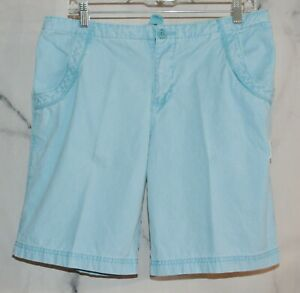 LIFE IS GOOD Light Blue 100% Cotton Shorts Medium Two Pocket Internal Drawstring
