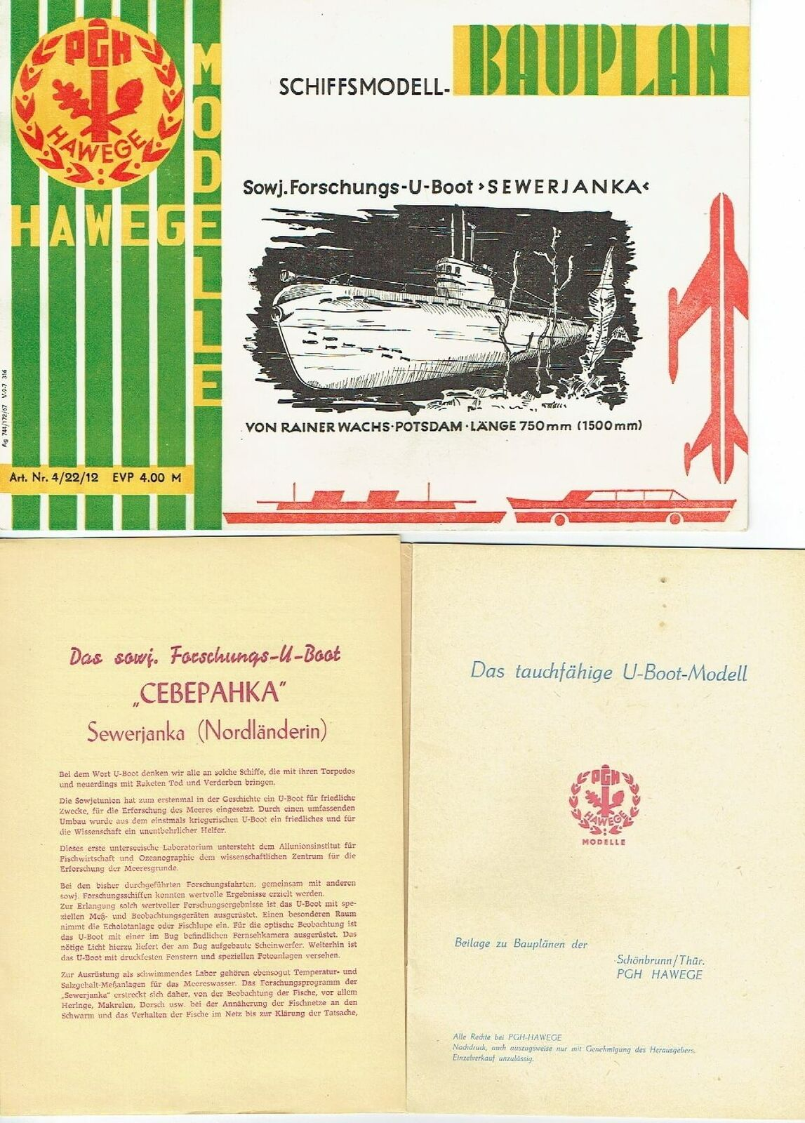 Hawege Modèles Cire Modélisme plans  de bâtiHommest navire modèle Udémarrage severnïa RDA 1967  le prix le plus bas