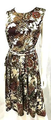 3X Shelby /& Palmer A Line Dress NEW Sleeveless Floral Fit /& Flare PLUS SZ 2X