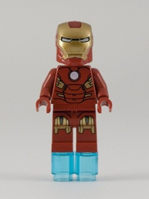 LEGO SUPER HEROES - IRON MAN CIRCLE ON CHEST FIGURE + GIFT - BEST VALUE - NEW
