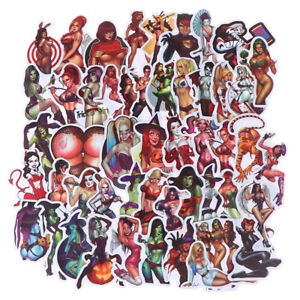 50Pcs-Devil-Beauty-Graffiti-Stickers-for-Skateboard-Suitcase-Laptop-Guitar-Car