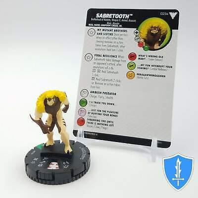 Sabretooth 023a Uncommon M//NM with Card Marvel The Dark Phoenix Saga HeroClix