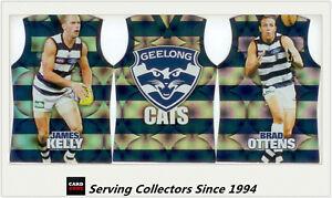 2009-Select-AFL-Pinnacle-Holofoil-Jersey-Die-Cut-Card-Team-Set-12-Geelong