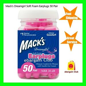 Macks MACK/'S #193 3pr Dreamgirl Soft Foam Ear plugs WOMEN travel reading earplug