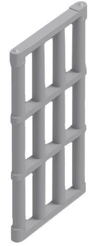 ☀️NEW LEGO 12x DARK BLUISH GRAY Door Frame 1x4x6 Part Pieces /& Jail Prison Bars
