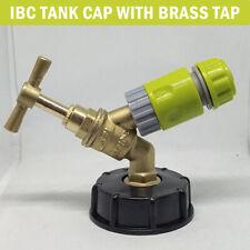 """IBC Adapter 1000L Regenwassertank S60x6 Grobgewinde 1//2/"""" Kugelhahn Auslaufventil"""