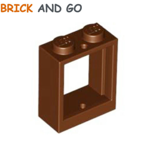 Chassis 1x2x2 NEW NEW Brown, Brown Lego 4 x 60592 frame window
