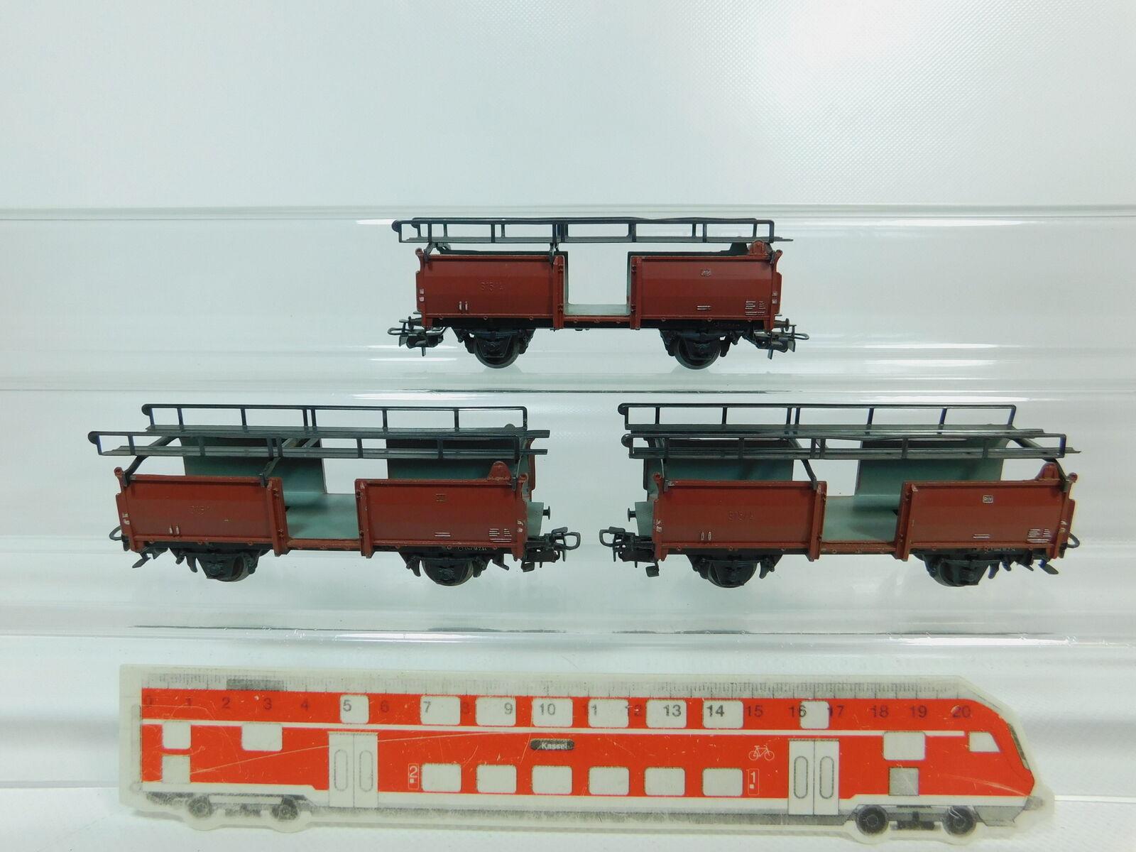 BP692-1   3 x   H0/Ac 4612 Carro per Trasporto di Autovetture Scaricato