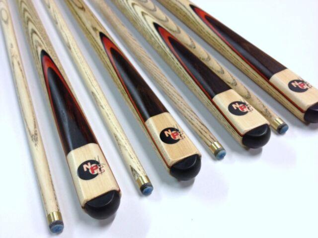 Full Length Ash WOODEN Pool Snooker Billiard Cue Stick SET of 4 Birthday Gift