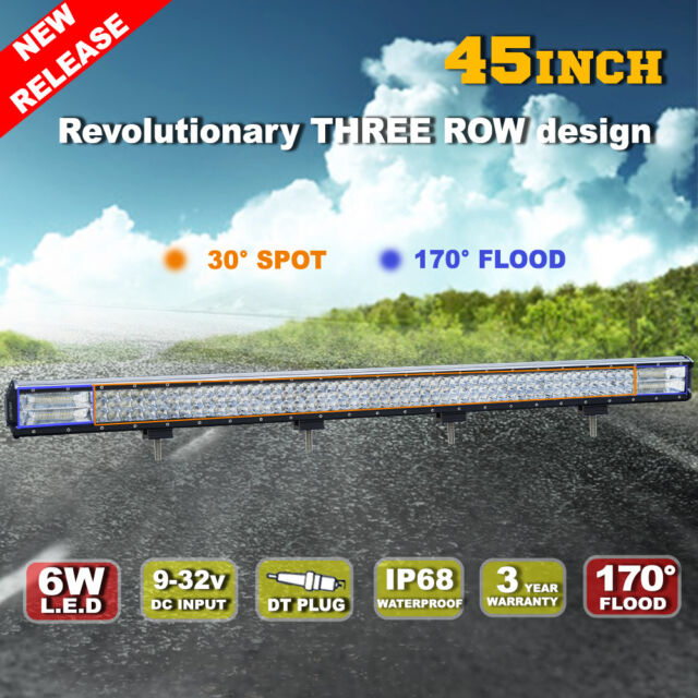 45inch 1224W Philips LED Light Bar Spot Flood Combo Offroad Work Driving 4WD