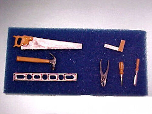 Dollhouse Miniature Complete Carpenter/'s Tool Set 1:12 Doll House Miniatures