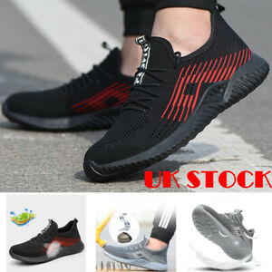 Mens-Steel-Toe-Mesh-Safety-Shoes-Work-Boots-Sports-Hiking-Trainers-Sneakers-UK