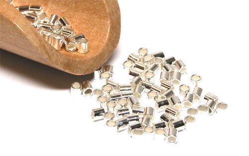 Silber Quetschröhrchen Crimp Röhrchen 925