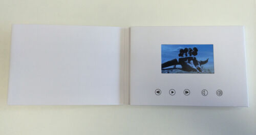 "Enregistrable vidéo Carte de Vœux-écran HD 4/"" BLANC parlant A5 256 Mo"