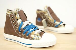 1b6c4257ab0 Converse CT Double Upper Plaid Hi Top Womens Girls Trainers ...