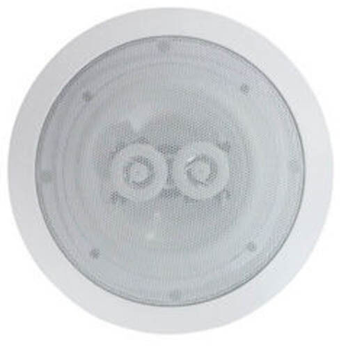 White 6.5  8 Ohms 120W Dual 2-Way Quality Ceiling Roof Wall Speaker tweeters