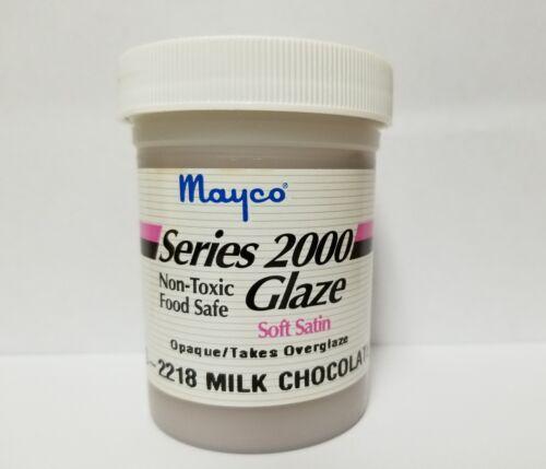 Mayco Series 2000 Ceramic Glaze Vintage 4 OZ S-2218 Milk Chocolate soft satin