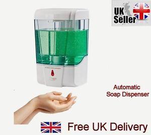 automatischer sensor seifenspender desinfektionsmittel badezimmer wandmontage ebay. Black Bedroom Furniture Sets. Home Design Ideas