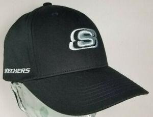 528f471b Skechers Hat Cap Black Silver Logo Snapback Dada RARE PROTOTYPE ...