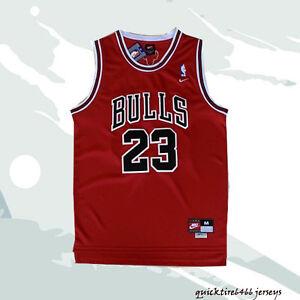 info for 3e2e4 111ba Details about BULLS Michael Jordan Chicago Bulls #23 Basketball Jersey Red  Men Jersey