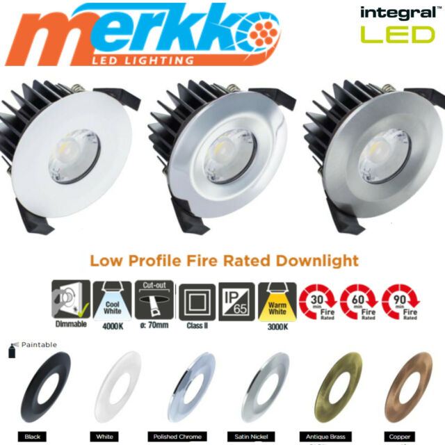 Aurora Fire Rated IP65 Downlight with LED Lamp Satin Nickel