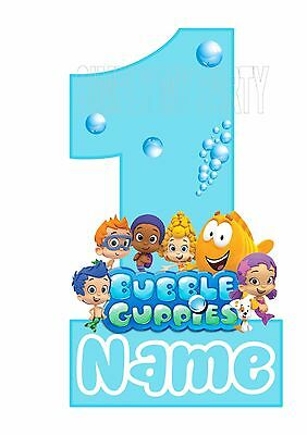 Remarkable Iron On Transfer Sticker Bubble Guppies Birthday Cake Smash Funny Birthday Cards Online Elaedamsfinfo