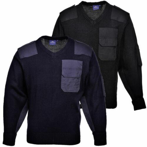 Portwest Nato Military Police Security Sweatshirt Sweater V Neck Jumper B310