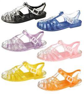 2b13515545b0 SALE Spot On F0892 Ladies 90 s Style Retro Jelly Sandals