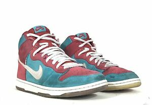 cheap for discount abe97 1a249 Image is loading Nike-SB-2009-Hi-Top-High-Dunks-Bloody-