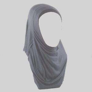 ISLAM-ABAYA-Kopftuch-Hijab-Jersey-Hijab-2-Gesichtsschlaufe-Dunkelgrau