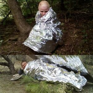 Outdoor-Emergency-Tent-Blanket-Folding-Sleeping-Bag-Survival-Shelter-Camping-DIY