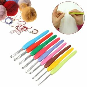 Multicolor-Manejar-Kit-Raza-Agujas-de-tejer-Gancho-del-crochet-Loom-Tools-Metal