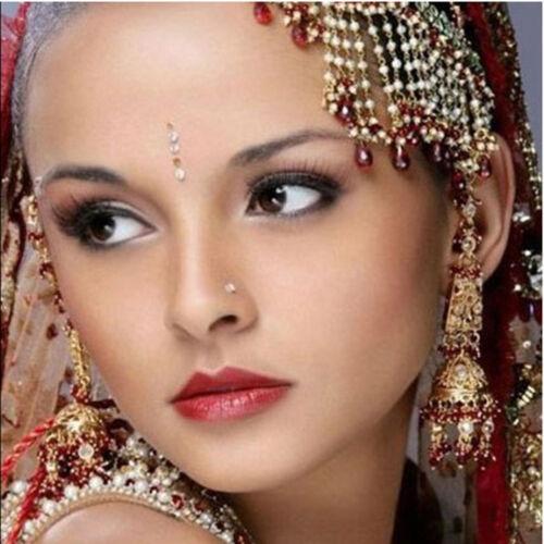 24x encanto Rhinestone moda nariz anillo Piercing del cuerpo v