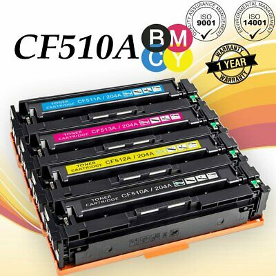 for HP CF510A Toner Cartridge hp M154a//nw 204a Printer M180n M181fw Toner Cartridge Print Clear 1100 Pages Office Supplies Safety No Leakage powder-4-color