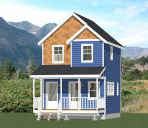 Details about 16x20 Duplex -- 574 sq ft -- PDF Floor Plan -- Model 14