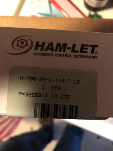 "stainless steel Ham-Let ball valve lever locking handle 1//4"""