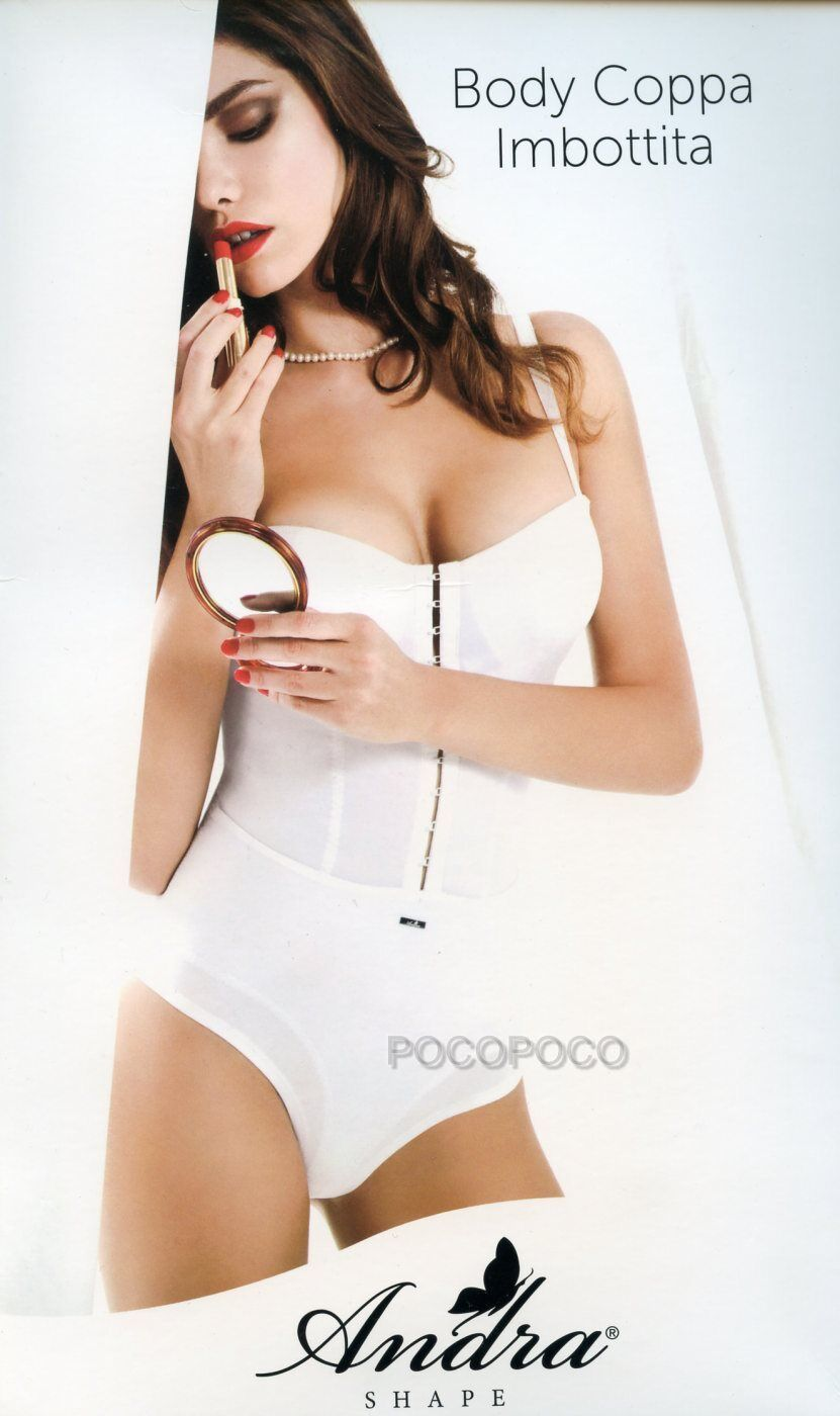 BODY MODELING PADDED CUP WOMAN WITH HOOKS AND REINFORCEMENTS ANDRA ART. F19