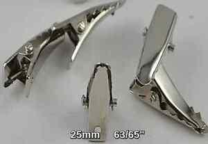 50 small silver prong metal hair alligator clip craft for Small alligator clips for crafts